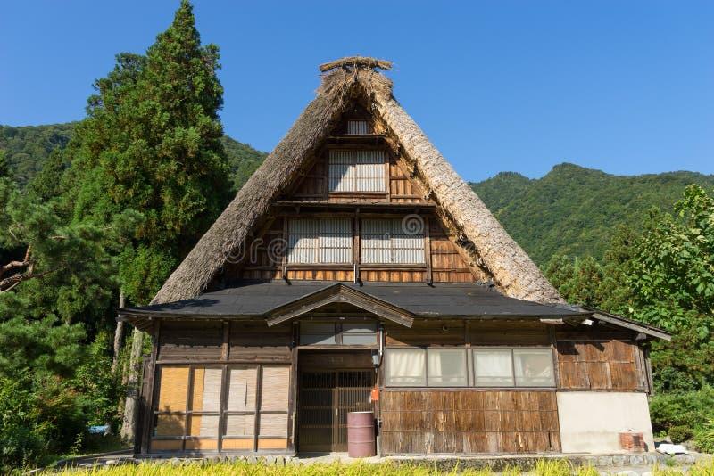 Gassho Zukuri (Gassho-style) House in Gokayama royalty free stock images