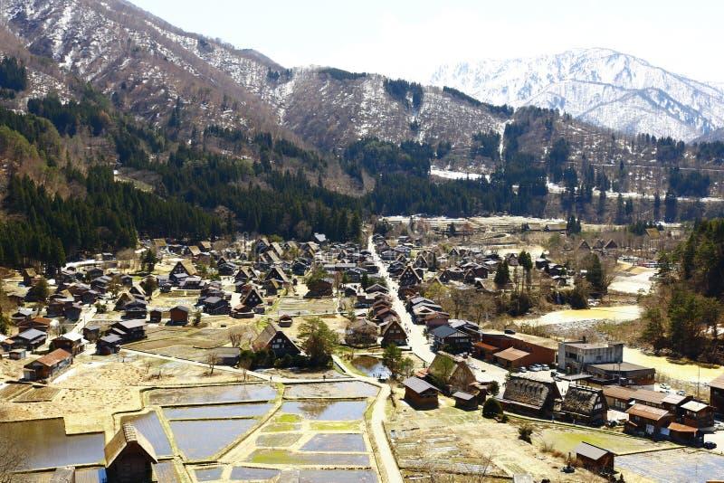 Gassho-Zukuri in het historische dorp shirakawa-gaat royalty-vrije stock fotografie