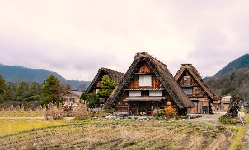 Shirakawa go ,unesco world heritage in Gifu , Japan stock image