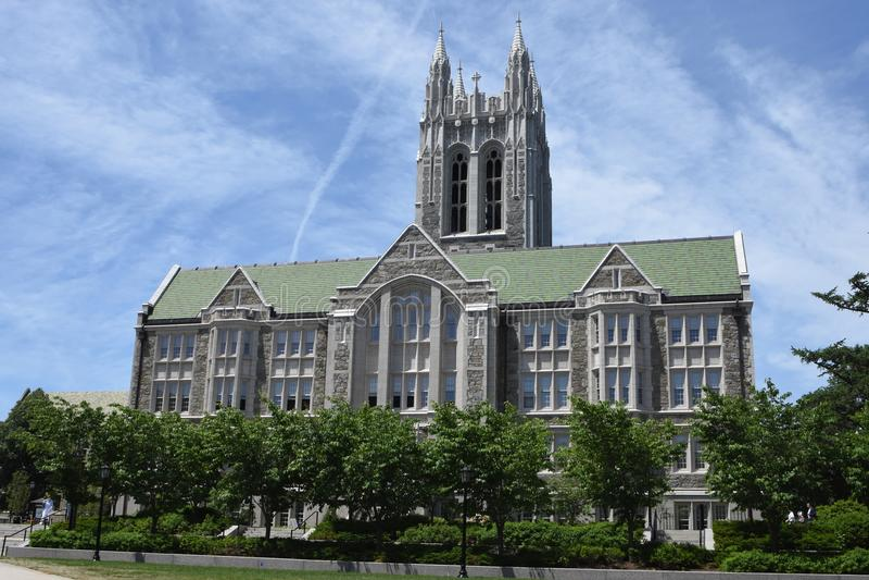Gasson Salão, faculdade de Boston foto de stock
