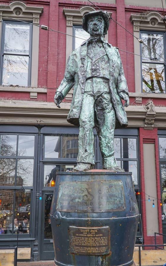Gassy статуя Джека - основатель Gastown Ванкувера - ВАНКУВЕРА - КАНАДЫ - 12-ое апреля 2017 стоковое изображение