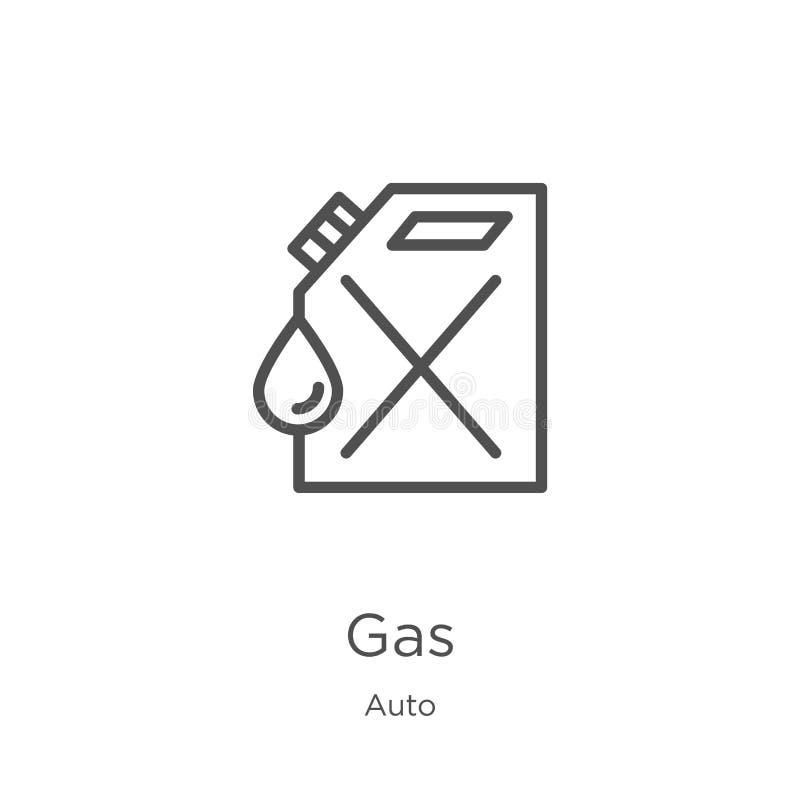 gassymbolsvektor från automatisksamling Tunn linje illustration f?r vektor f?r gas?versiktssymbol Översikt tunn linje gassymbol f vektor illustrationer