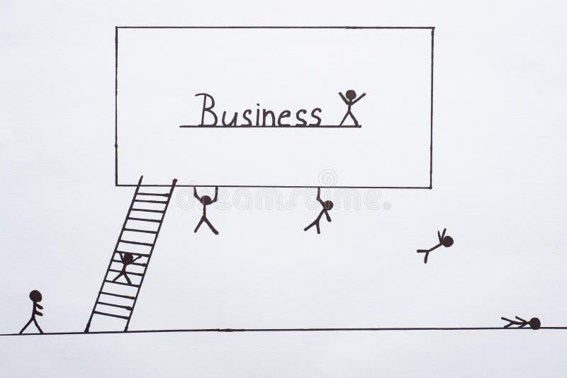 Gastado para crescer o crescimento, a gestão e a estratégia do negócio imagens de stock