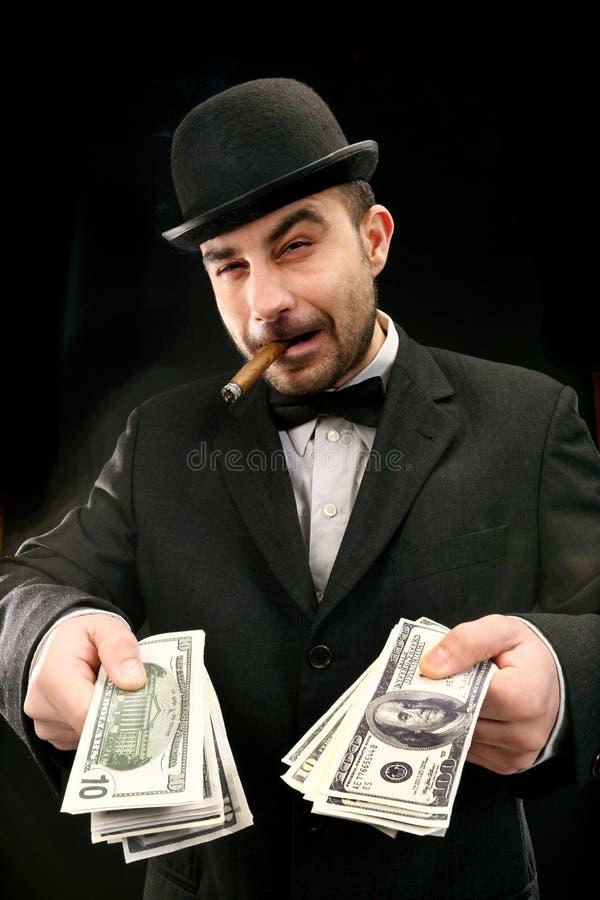 Gastador de dinero grande foto de archivo