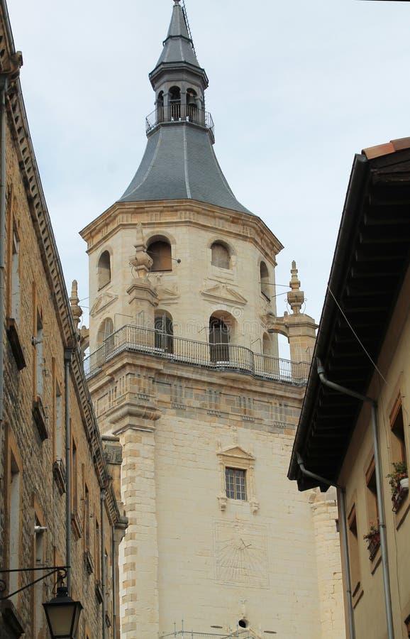 Gasteizko Santa Maria katedrala, Vitoria-Gasteiz, baskiskt land royaltyfria bilder