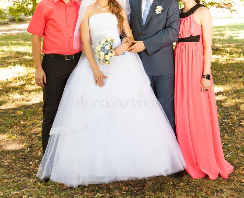 Gasten bij het huwelijk stock afbeelding