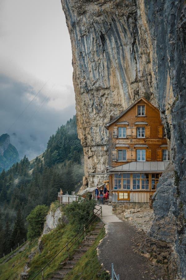 Gasthaus Aescher em Suíça, Appenzell fotografia de stock