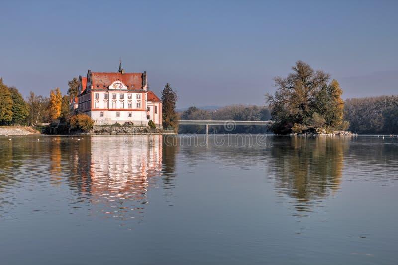 Gasthaus Schloss Neuhaus morgens, Deutschland stockfotos
