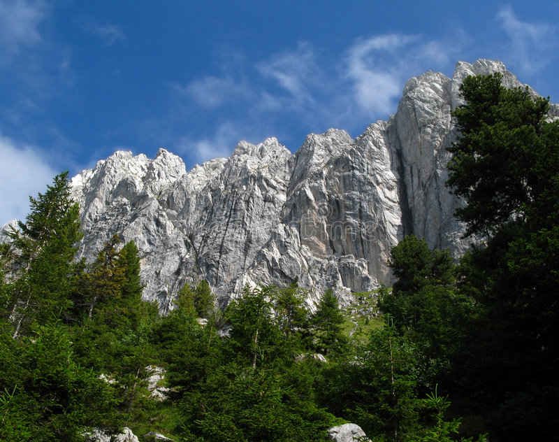 Download Gastlosen 2 - Over Pine Trees Stock Image - Image: 2828041
