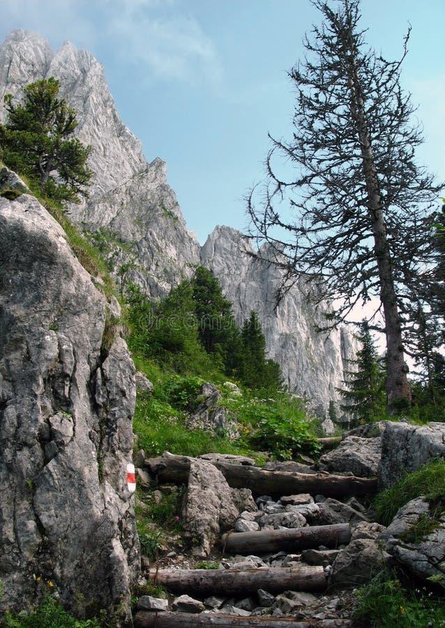 Gastlosen 5 - de weg van de Trekking stock foto's