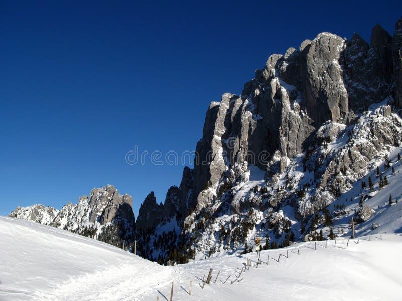 Gastlosen mountain range in winter 06, Switzerland royalty free stock images