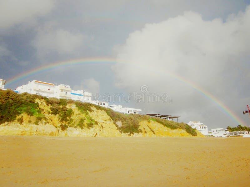 Gastos indirectos dobles del arco iris fotos de archivo libres de regalías