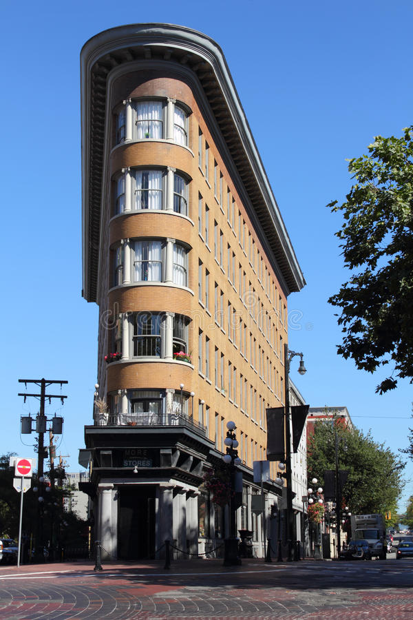 Gastown's Hotel Europe, Vancouver. The historic Hotel Europe in Vancouver's touristy Gastown district built in 1908. British Columbia, Canada stock photography