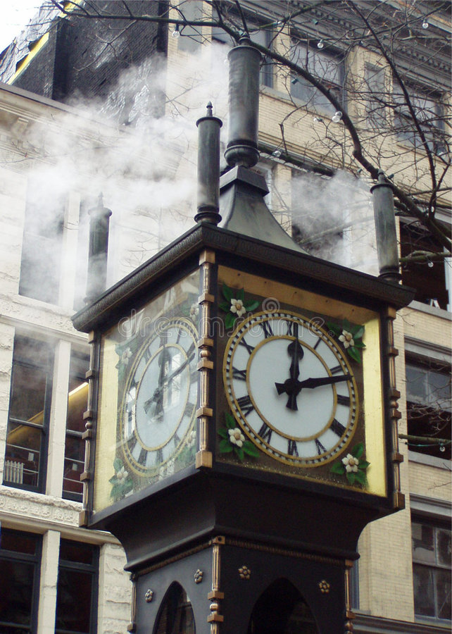Download Gastown Steam Clock stock image. Image of clock, vancouver - 10189