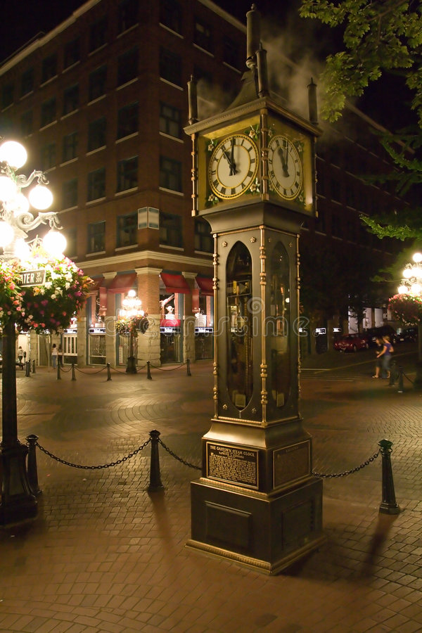 Gastown Steam Clock. At Vancouver, British Columbia, Canada. This clock operates with steam royalty free stock photo
