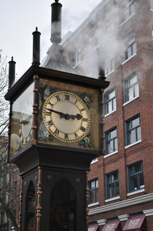 Gastown steam clock. In Vancouver, BC royalty free stock photography