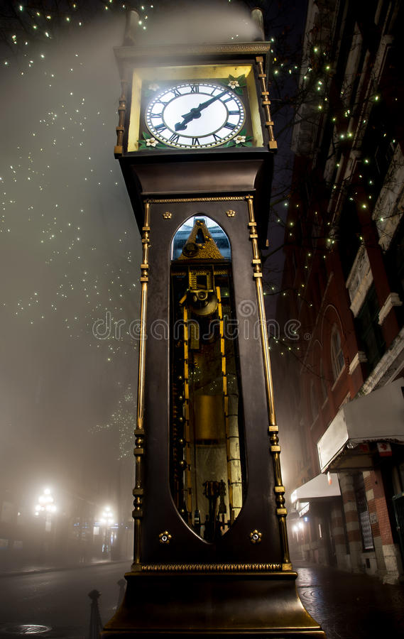 Gastown Steam Clock in Vancouver. Vancouver's steam clock in Gastown stock image