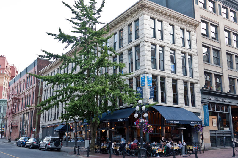 Gastown Vancouver Canada. A typical historical building in Gastown, Vancouver, British Columbia, Canada stock photos