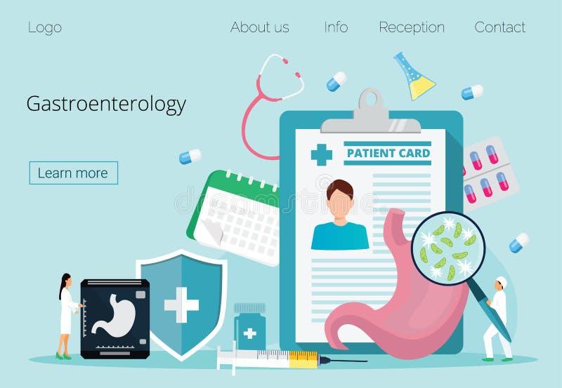 Gastroenterology lądowania strona royalty ilustracja