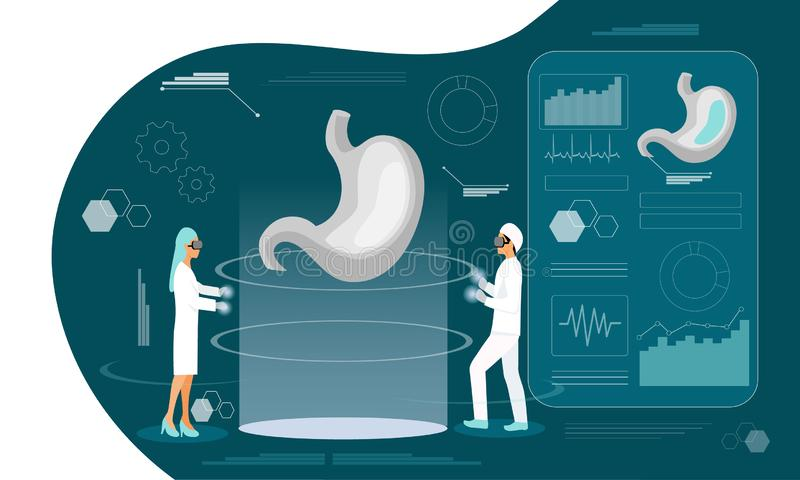 Gastroenterologylandningsida royaltyfri illustrationer