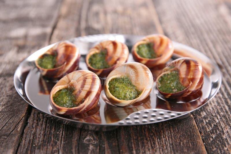 Gastronom a francesa caracol foto de archivo imagen de for Cocina francesa