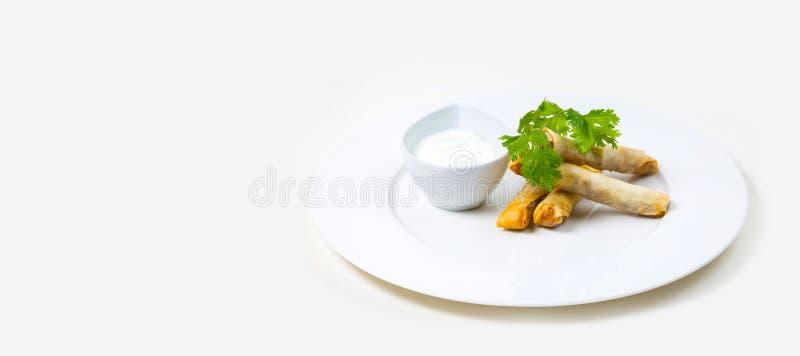 Gastronomisch Barvoedsel op een witte achtergrond stock afbeeldingen