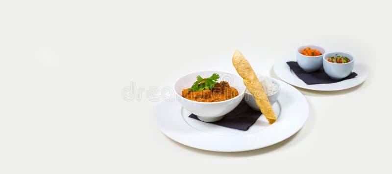Gastronomisch Barvoedsel op een witte achtergrond royalty-vrije stock foto