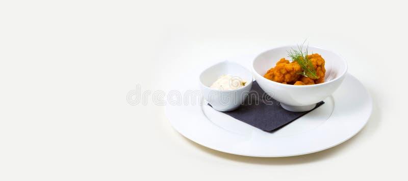 Gastronomisch Barvoedsel op een witte achtergrond royalty-vrije stock foto's