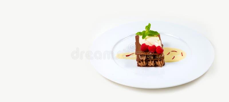 Gastronomisch Barvoedsel op een witte achtergrond royalty-vrije stock afbeelding
