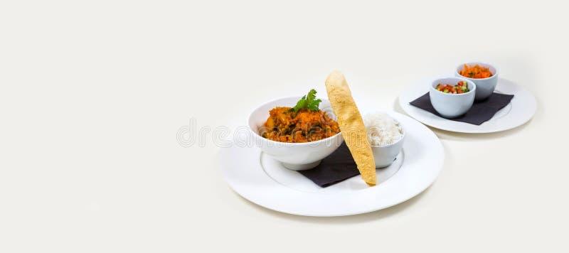 Gastronomisch Barvoedsel op een witte achtergrond stock foto's