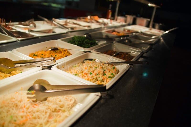 Gastronomisch buffet royalty-vrije stock afbeelding