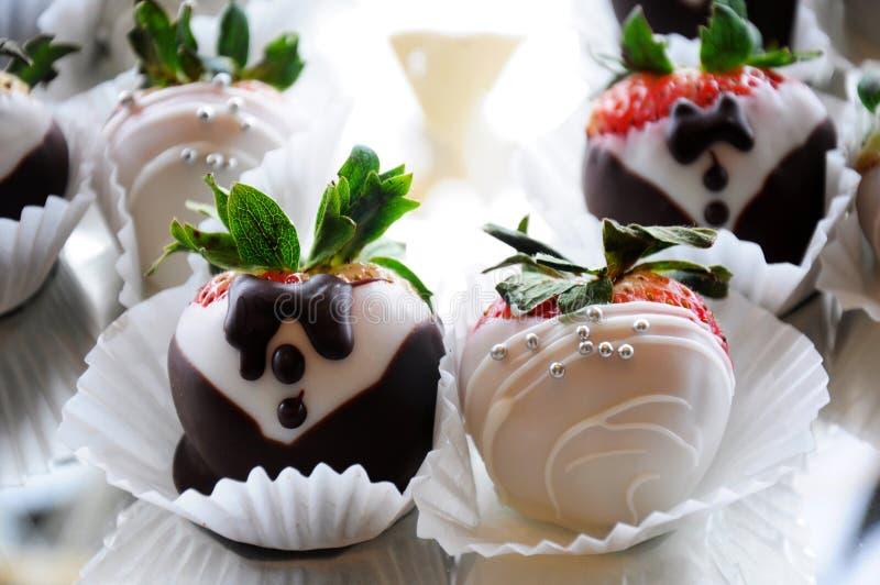 Gastronomisch desserthuwelijk stock foto's