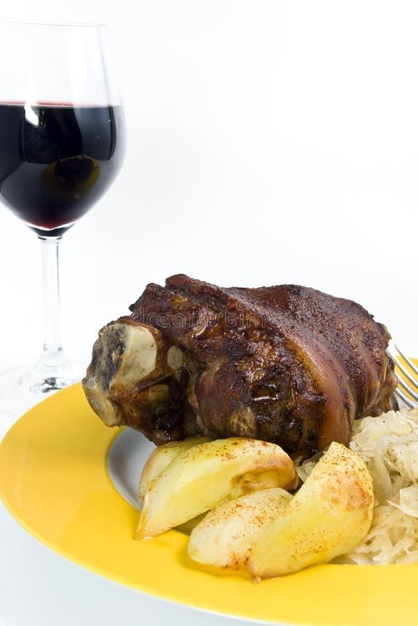Gastronomisch, geroosterd varkensvlees - gewricht royalty-vrije stock fotografie