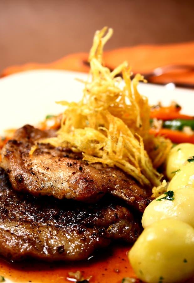 Gastronomisch lapje vlees stock afbeelding