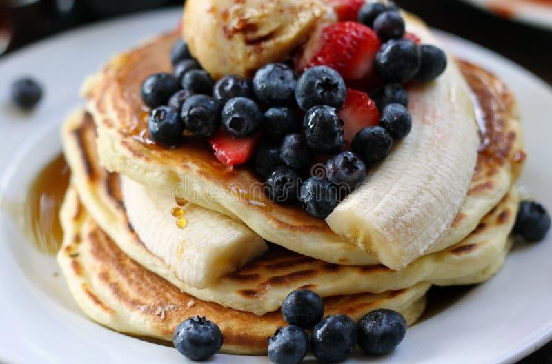 Gastronomische Pannekoeken royalty-vrije stock afbeeldingen
