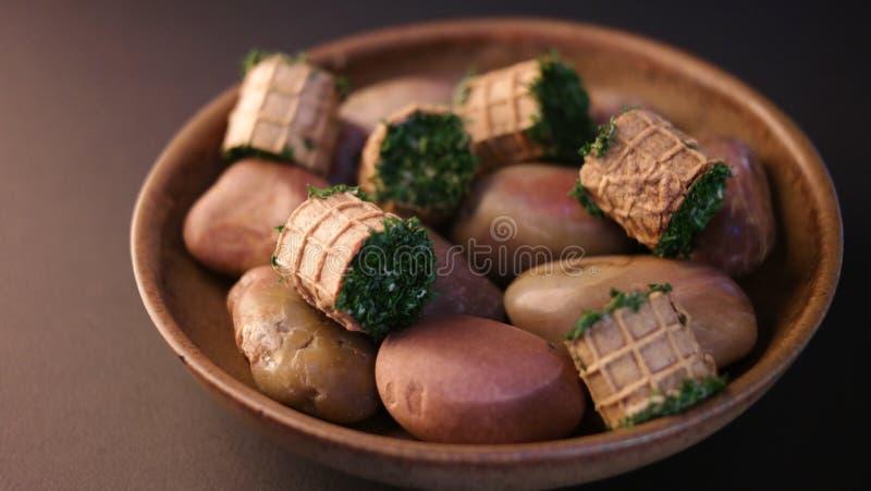 Gastronomische plaat stock foto