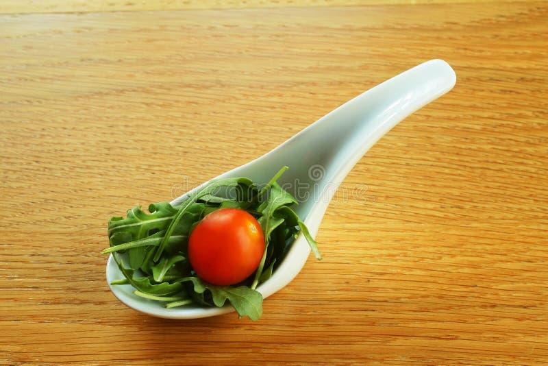 Gastronomische salade royalty-vrije stock foto's