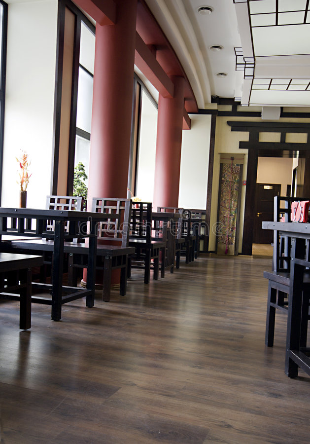 Gaststätteinnenraum lizenzfreies stockbild