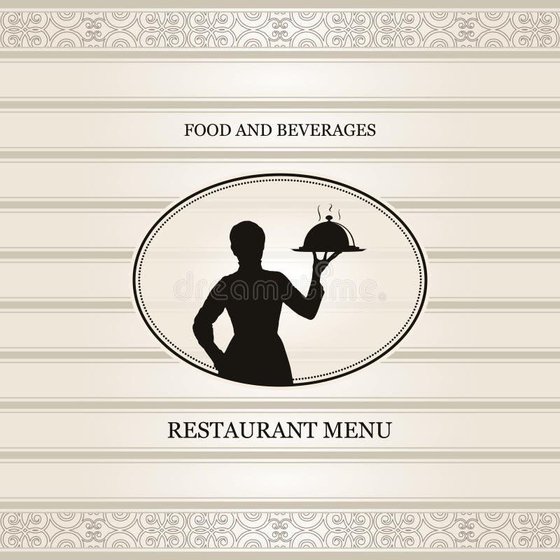 Gaststättemenü lizenzfreie abbildung