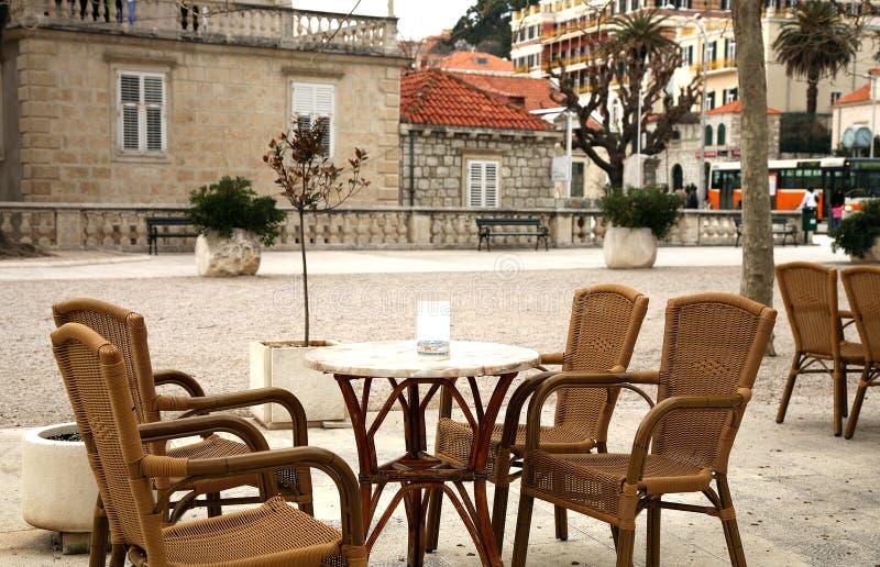Gaststätten in Dubrovnik, Kroatien stockfotos