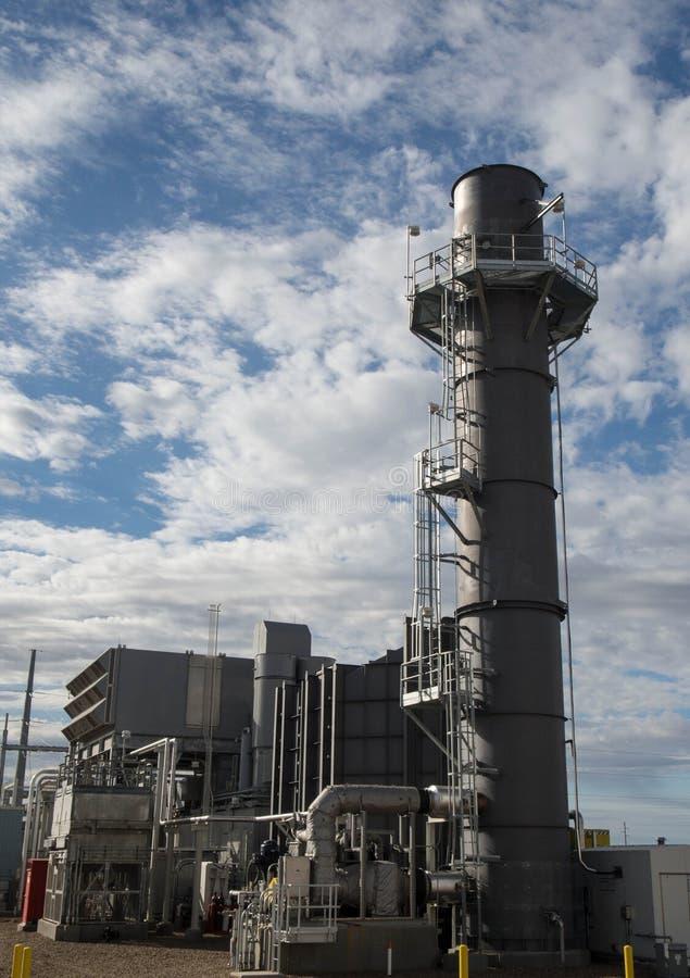 Gasturbinenkraftwerk stockfoto