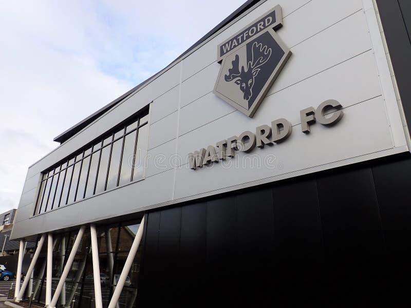 Gastvrijheidsingang, Watford-het stadion van de Voetbalclub royalty-vrije stock afbeelding