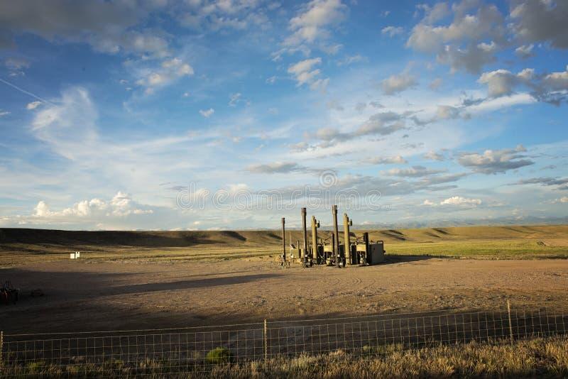 Gasveld op Mesa stock afbeeldingen