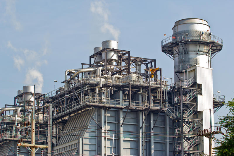 Gasverarbeitungsfabrik lizenzfreies stockbild