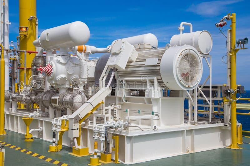 Gasverdichterkompressor, der Art Antrieb durch Hochspannung austauscht stockfoto