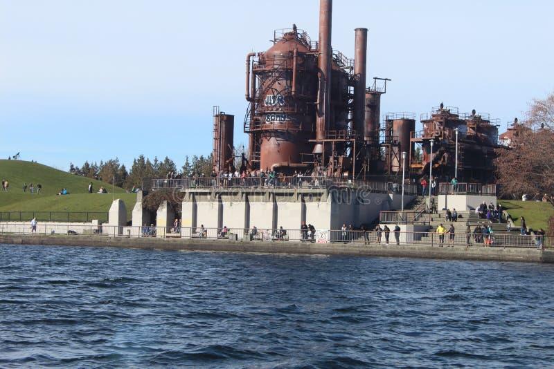 Gaswerkpark lizenzfreie stockbilder