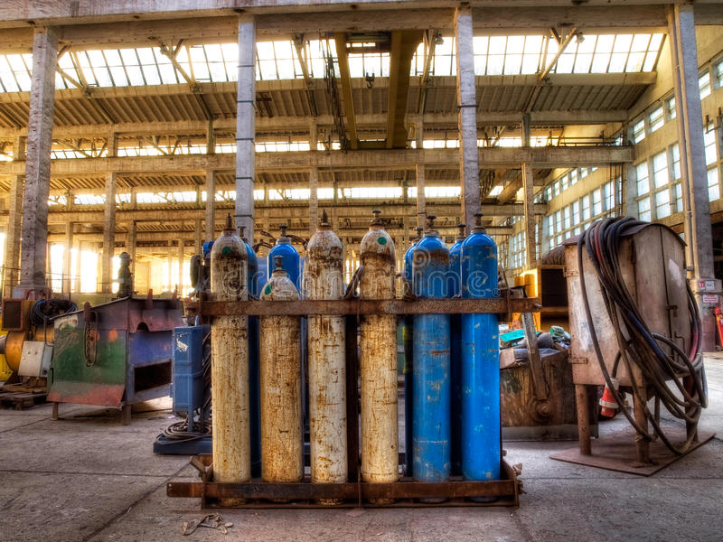 Gaszylinder lizenzfreies stockbild