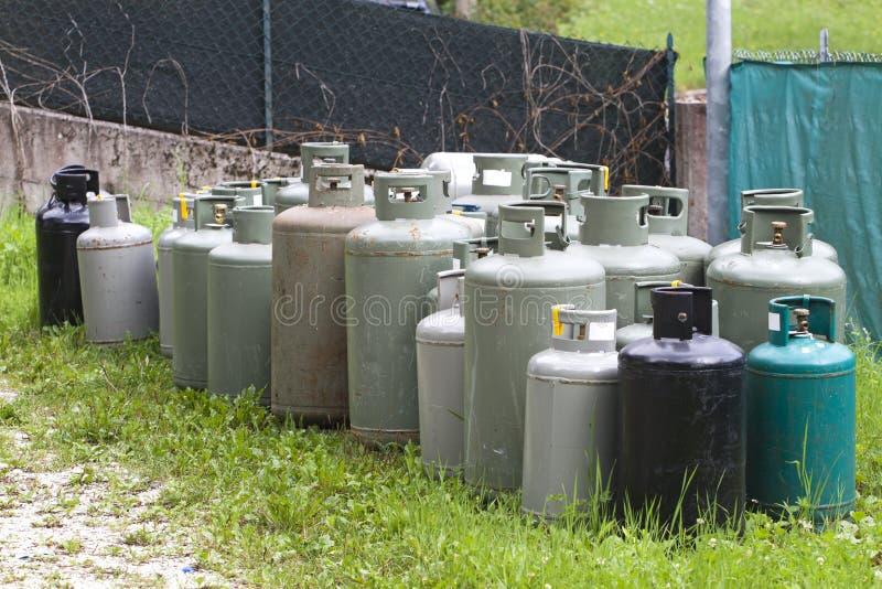 Gaszylinder lizenzfreie stockbilder
