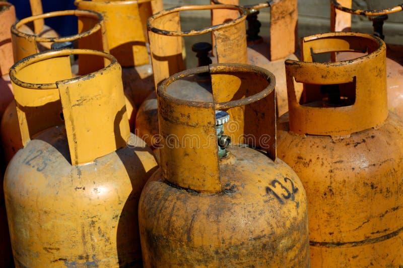 Gaszylinder stockbilder