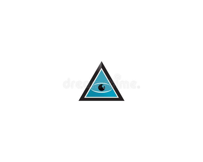 ?gat av Horus & x28; ?ga av rommar, Wadjet& x29; trott av forntida egyptier f?r att ha att l?ka och skyddande ?verhet royaltyfri illustrationer